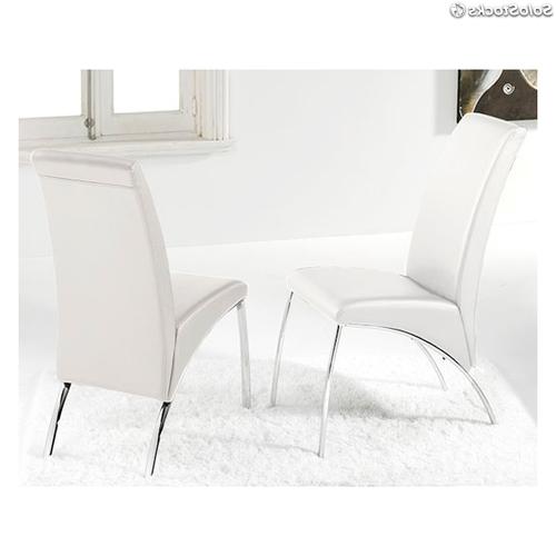 Sillas Blancas Salon Txdf Pack 2 Sillas Arco Blancas Tapizadas En Polipiel Blanco De Salon