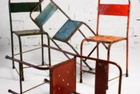 Sillas De Metal Ftd8 Silla Azul De Metal Vintage Tienda Online Muebles Vintage Ofertas
