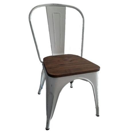 Sillas De Metal Q0d4 Sillas Metal Reforzada asiento Madera Deco Equipamientos