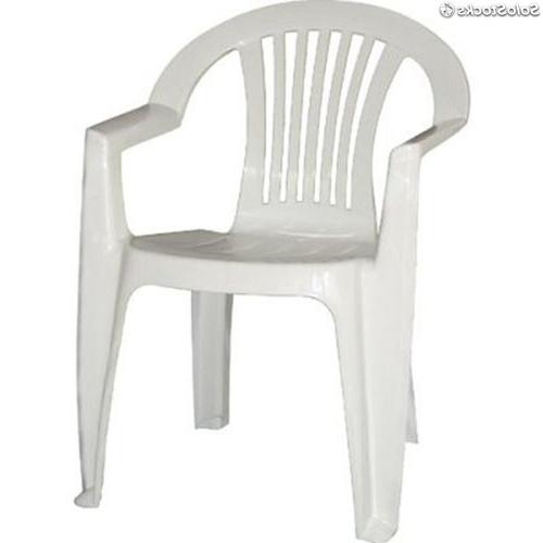 Sillas De Plastico Gdd0 Silla Plà Stico Blanca Con Posabrazos Catering Mod Lagos Barata