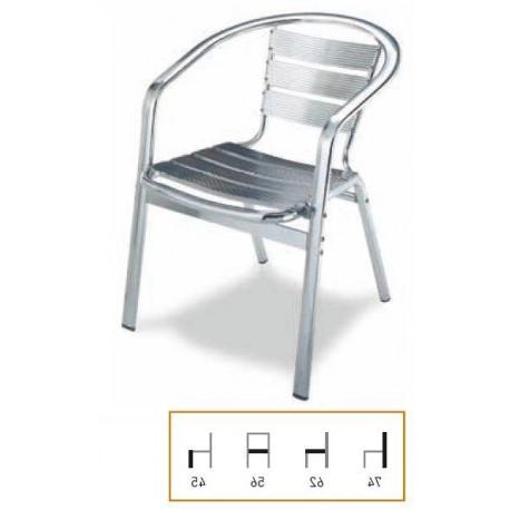 Sillas De Terraza De Aluminio Dddy Silla Para Terraza Aluminio Exterior Hosteleria Venta Internet Economica