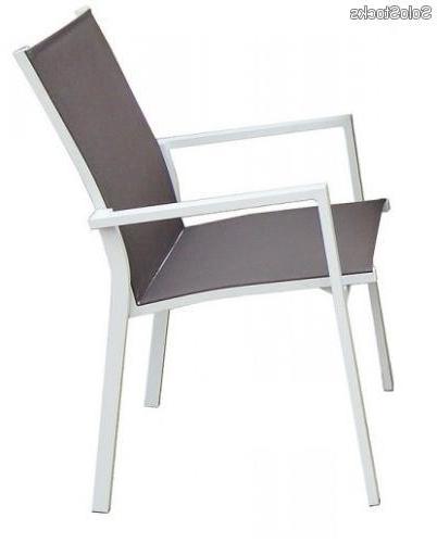 Sillas De Terraza De Aluminio Q0d4 Silla De Terraza Y Jardin Aluminio Blanco Alaska
