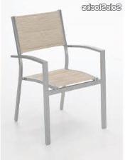 Sillas De Terraza De Aluminio Q0d4 Silla Terraza Aluminio Textilene Acolchado Sera