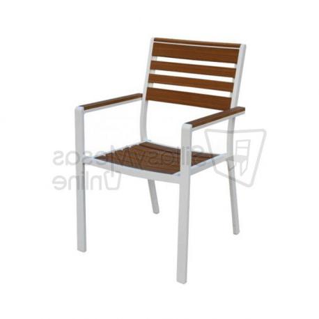 Sillas De Terraza De Aluminio X8d1 â Silla Aluminio Blanco Y Madera Polywood Para Terrazas