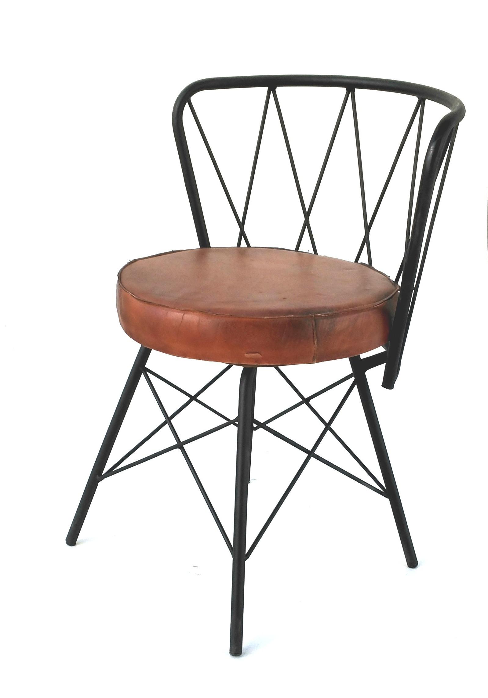 Sillas Industriales Thdr Sillas Vintage Circus Industrial Fabricada En Hierro Y Cuero Tapizada
