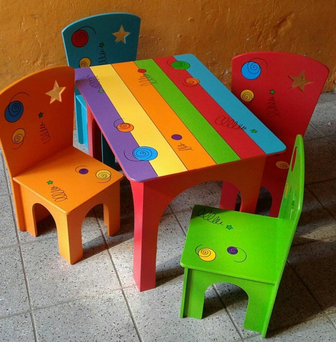 Sillas Infantiles 4pde Mesas Y Sillas Infantiles 2 600 00 En Mercado Libre