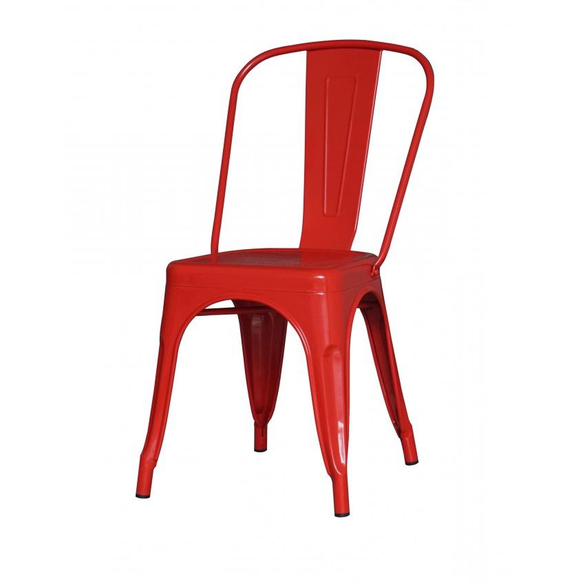 Sillas Metal Tqd3 Silla De Metal Galvanizada De Color Rojo Bibeca