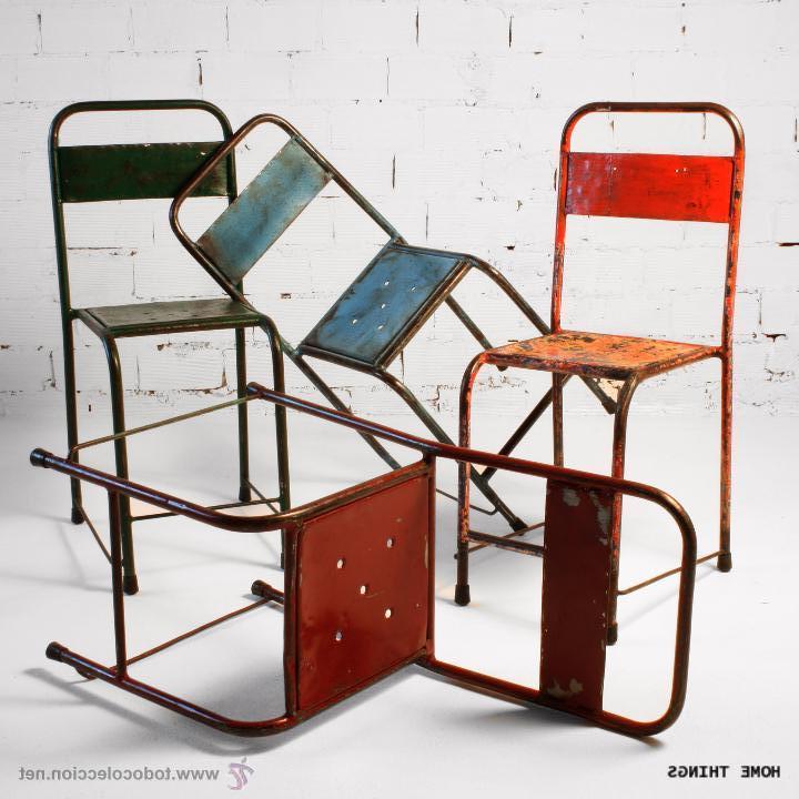 Sillas Metal U3dh Silla Vintage Metal Colores Prar Muebles Vintage En