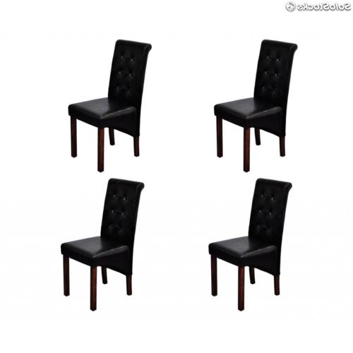 Sillas Negras Tldn 4 X Sillas Negras De Edor