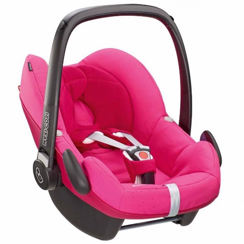 Sillas Para Bebes E6d5 Silla De Carro Para Bebà Pebble Rosa Fresa