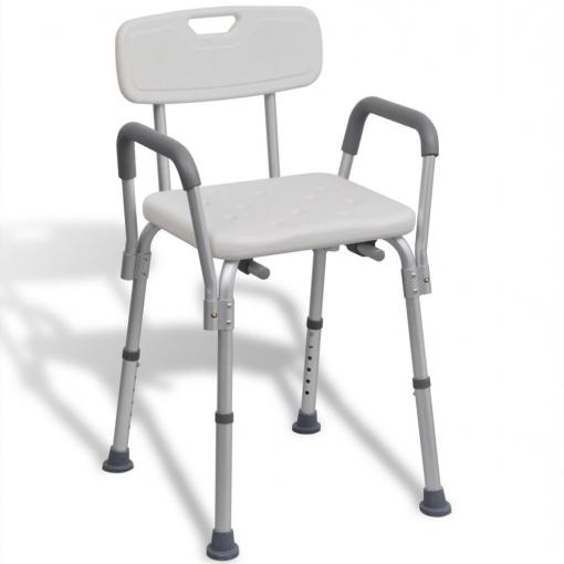 Sillas Para La Ducha Fmdf Vidaxl asiento Para Ducha Hecho De Aluminio Blanco