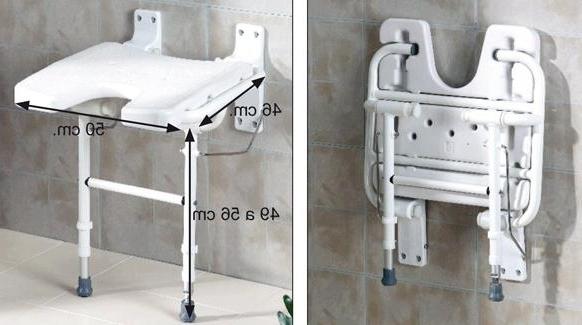 Sillas Para La Ducha Tldn asiento Abatible En U Con Patas Para Ducha Plegable L2185