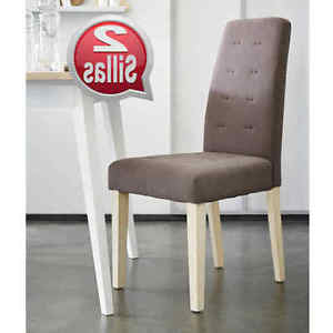 Sillas Para Salon Jxdu Pack 2 Sillas Para Edor O Salon Color Marrà N Patas Madera De Pino