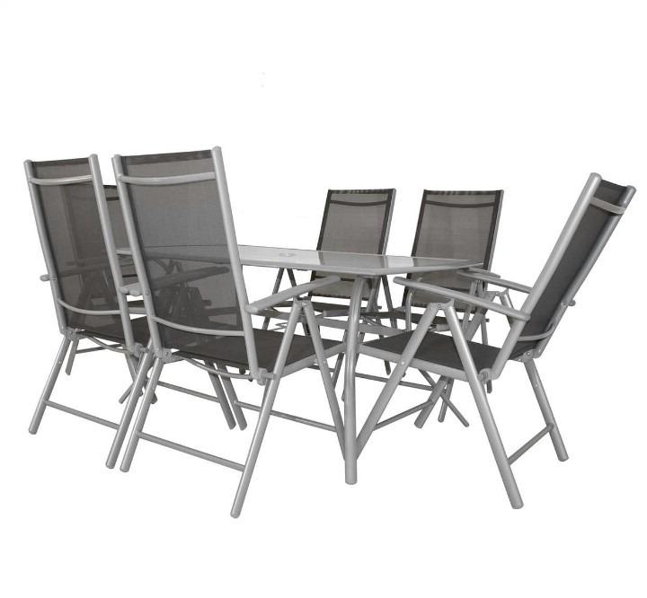 Sillas Plegables Jardin Nkde Set De Jardà N Aluminio Con Sillas Plegables Y 5 Posiciones