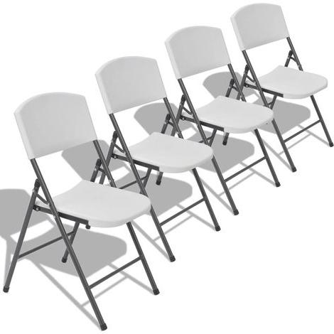 Sillas Plegables Jardin Q0d4 Sillas Plegables De Jardà N 4 Unidades Blancas De Hdpe