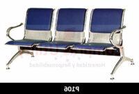 Sillas Sala Espera Nkde Tandem 3 Puestos Tapizado Azul Silla Sala Espera Metalica 1a