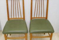 Sillas Tapizadas Vintage Dwdk Pareja De Sillas Vintage Tapizadas En Verde Prar Muebles
