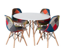 Sillas tower Whdr Pack Mesa tower Wood Y 4 Sillas tower Wood Patchwork