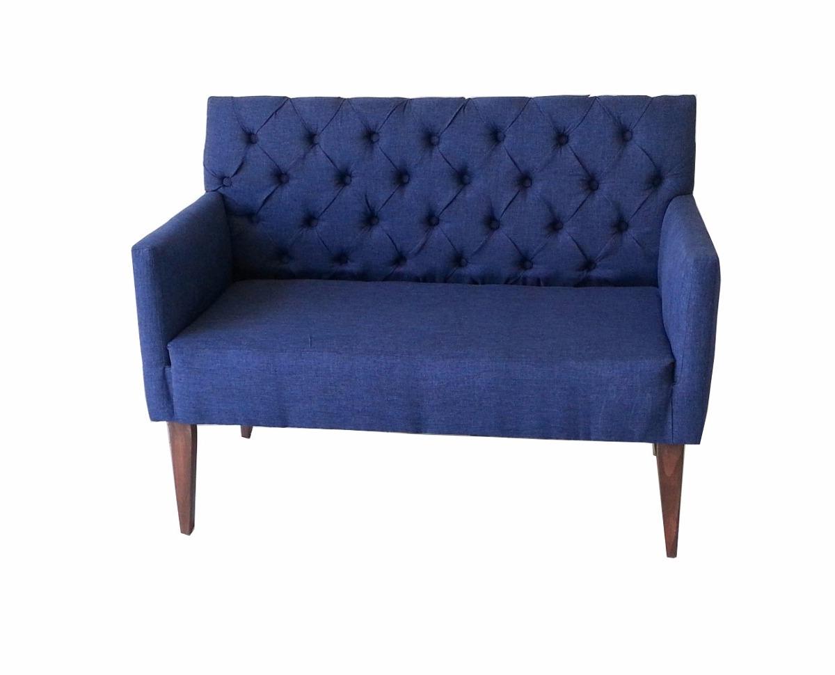 Sillon Azul Xtd6 Banca De Recibidor Love Seat Sillà N Azul Auxiliar D Recamara