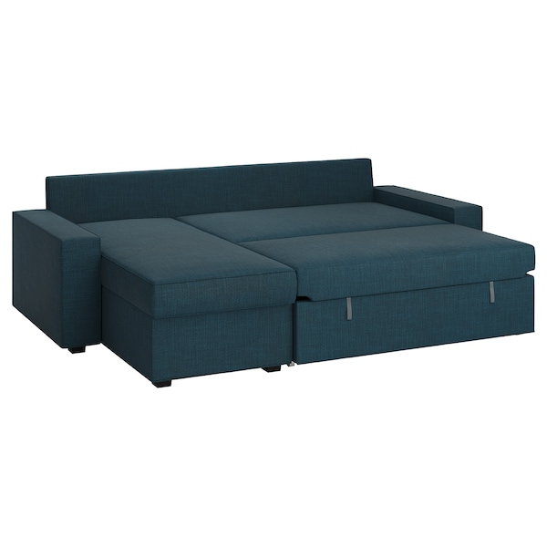 Sillon Cama Ikea Zwd9 sofa Bed with Chaise Longue Vilasund Hillared Dark Blue