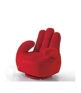Sillon En forma De Mano 8ydm tomasucci Sillà N Para Nià O Con forma De Mano Rojo Hogar