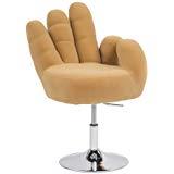 Sillon En forma De Mano Zwdg Vidaxl Sillà N Gris De Terciopelo En forma De Mano asiento Silla