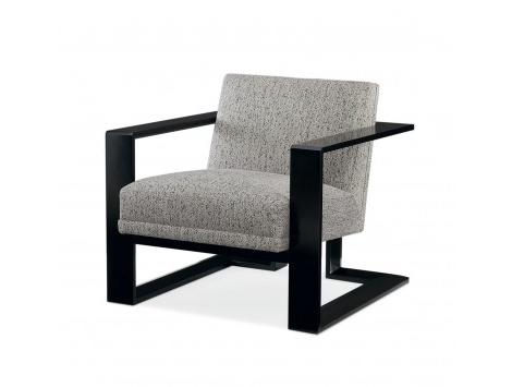 Sillon Moderno Thdr Sillà N Moderno Tapizado Con Marco De Madera De Roble En Color Negro Fusion Elements Cuorebello