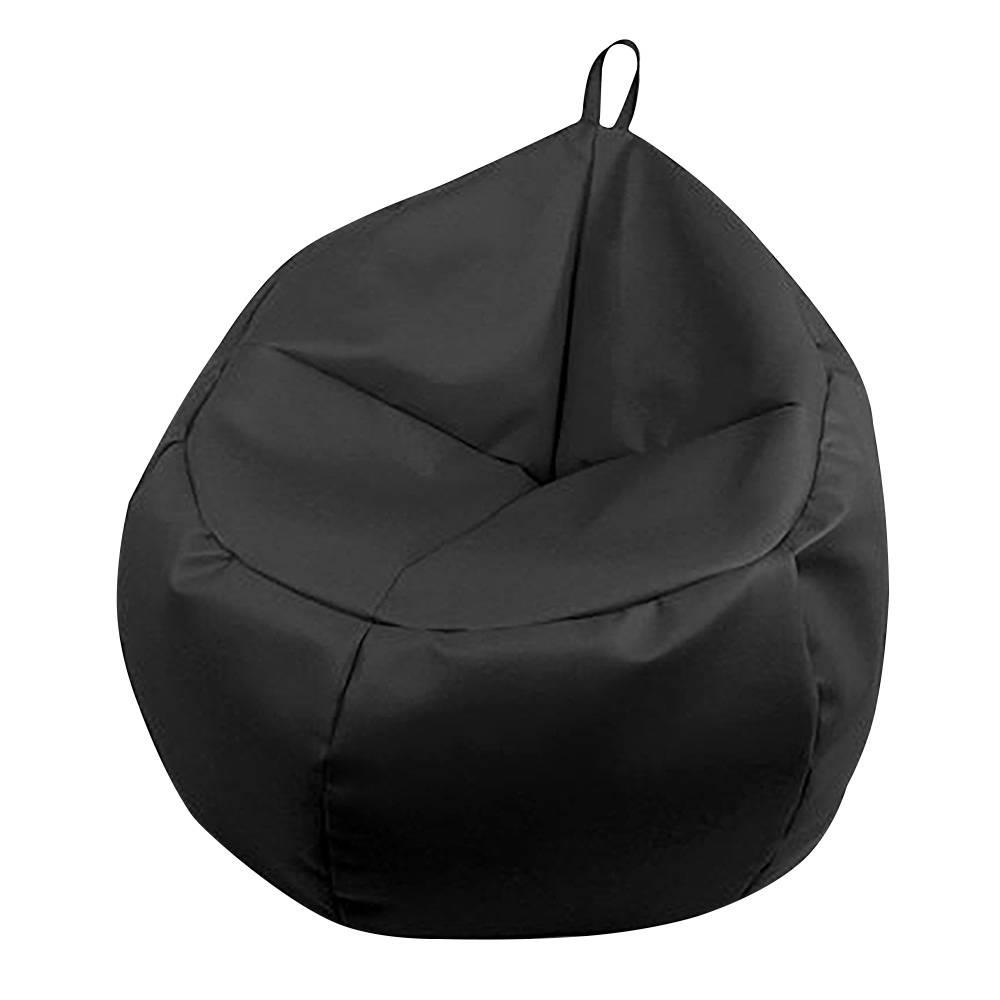 Sillon Puff Etdg Sillon Puff Tradicional Lunics Oval Negro Walmart