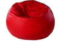 Sillon Puff Whdr Puff Redondo Confort Rojo