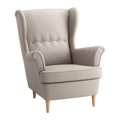 Sillon Relax Ikea Ffdn Strandmon Wing Chair Skiftebo Light Beige Ikea