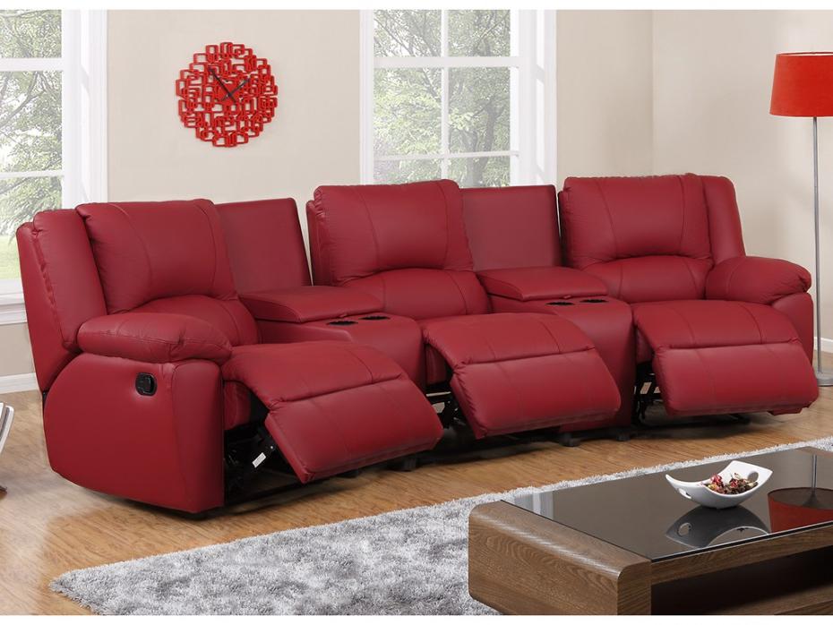 Sillon Relax Piel Txdf sofà 3 Plazas Y Sillà N Relax Piel Rojo Marfil Negro Aroma