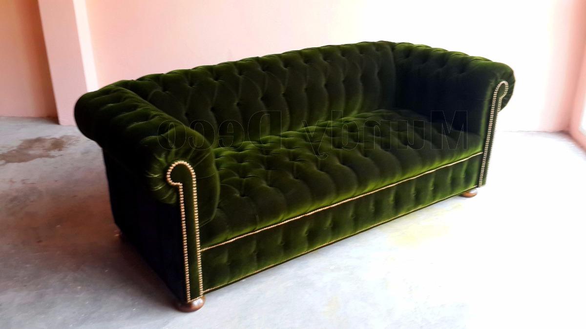 Sillon Verde 8ydm Sillon sofa Chester Pana original Verde Ingles Fabrica 21 500 00