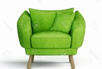Sillon Verde 9ddf Sillà N Verde Aislado En Un Fondo Blanco Fotos Retratos Imà Genes Y