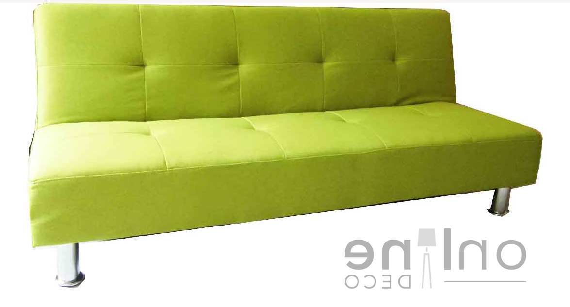 Sillon Verde Bqdd Sillà N sofa Cama Patas Cromadas Color Verde Claro Online Deco