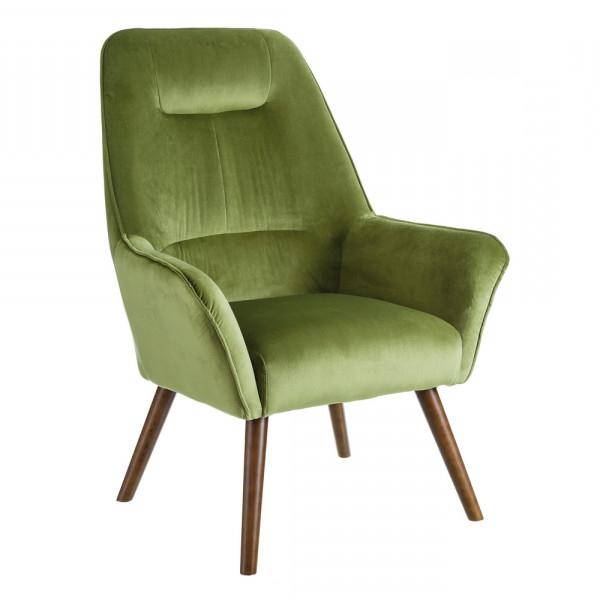 Sillon Verde O2d5 Sillà N Tapizado Moderno Verde De Terciopelo A Home