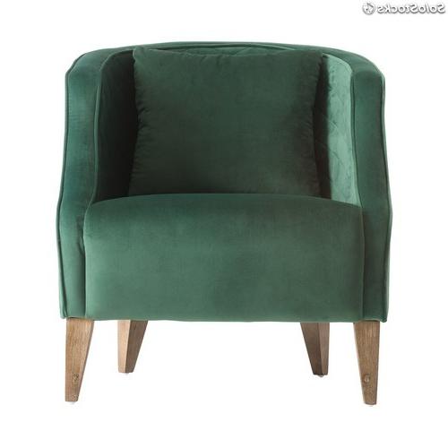 Sillon Verde Zwd9 butaca butacas Sillà N Con Tapizado Color Verde Esmeralda Estilo Clà Sico