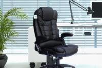Sillones Despacho T8dj Sillon Ejecutivo Negro Despacho U Oficina En Polipiel Con Masajes Con Mando Incluido
