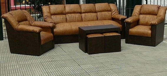 Sillones E9dx Sillones sofa butacas Juego De Living Con Mesa Y 2 Puff 7 190