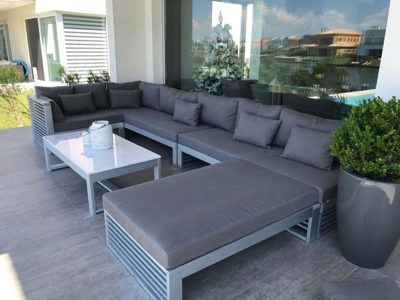 Sillones Exterior S5d8 nordeco Muebles Para Exterior De Aluminio Anodizado