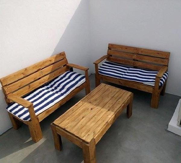 Sillones Para Terrazas Bqdd Sillones De Terraza Y Mesa Con Palet sofas Con Pallets Pinterest