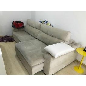 Sofá Chaise Longue Zwd9 Creme 1 Lugar Living Jogos sofa sofas Parana Sao Jose Dos Pinhais