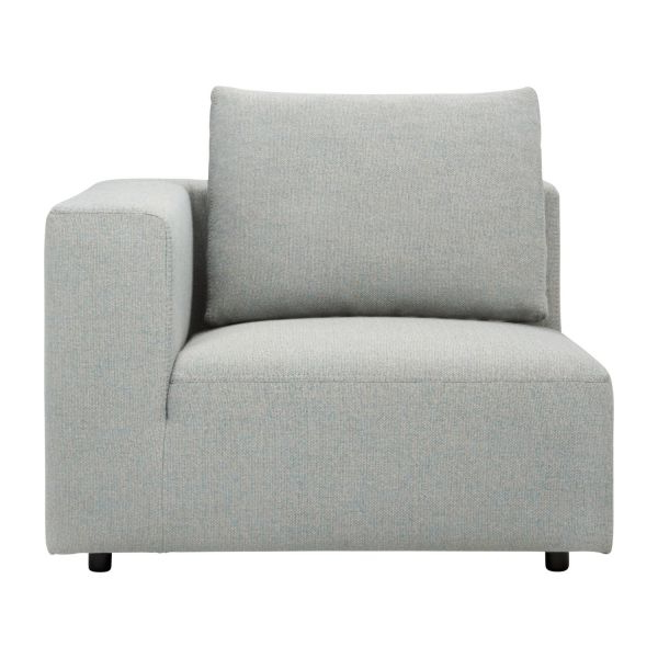 Sofa 1 Plaza D0dg Ponta 1 Seat sofa with Right Armrest In Lecce Fabric Blue Reef