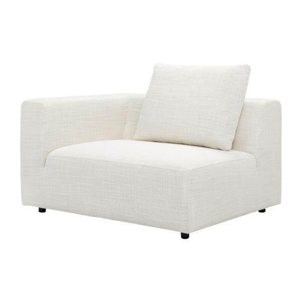 Sofa 1 Plaza Mndw Ponta 1 5 Seater sofa Avec Accoudoir Droit In Fasoli Fabric Snow