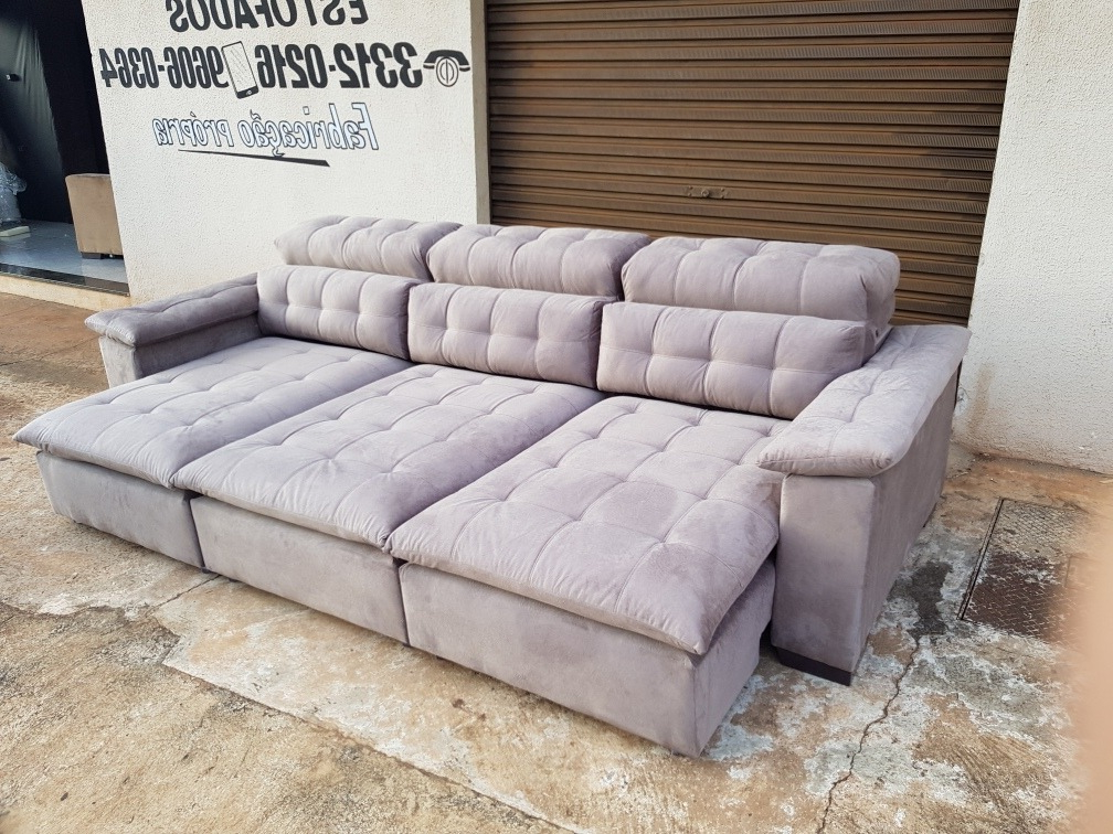 Sofa 3 Metros Dwdk sofa Retratil E Reclinavel 3 Metros somente Parana R 2 250 00 Em