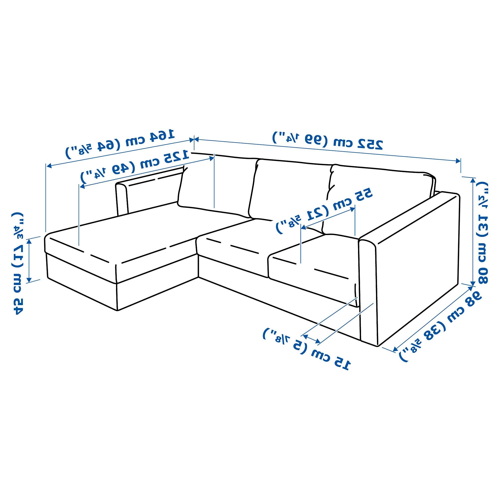 Sofa 3 Plazas Medidas 9fdy Vimle sofà 3 Plazas Chaiselongue orrsta Dorado Ikea