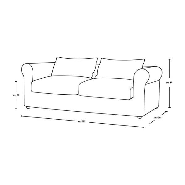 Sofa 3 Plazas Medidas D0dg Louis sofas 3 Seat sofa Mouse Grey Velours Habitat