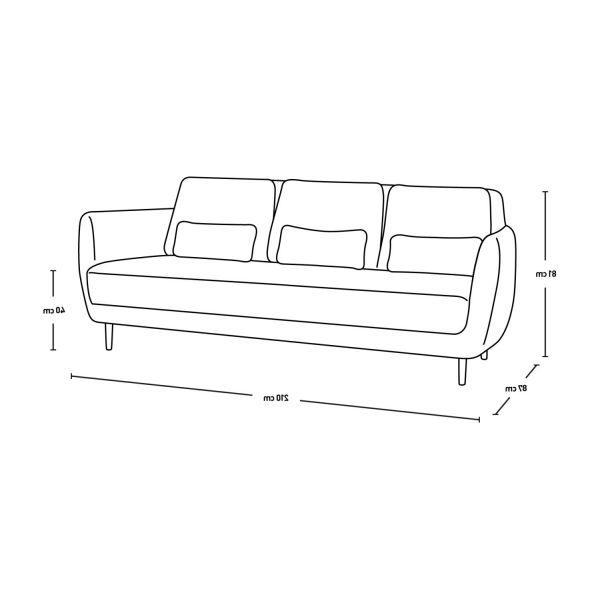 Sofa 3 Plazas Medidas Drdp Ella sofas 3 Seat sofa Ecru Fabric Habitat