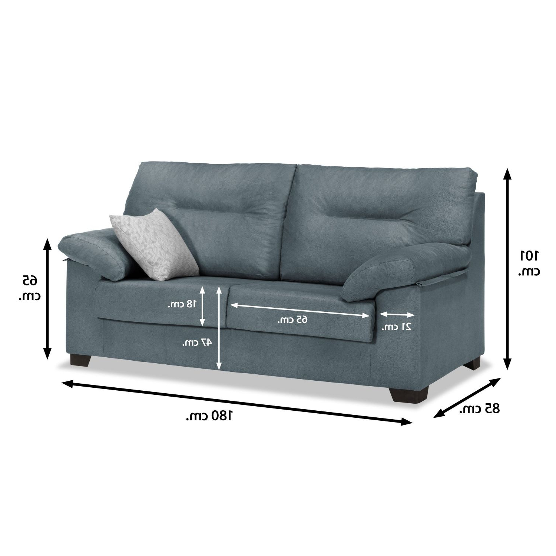 Sofa 3 Plazas Medidas U3dh sofà 3 Plazas Gris Azulado 180 Cm