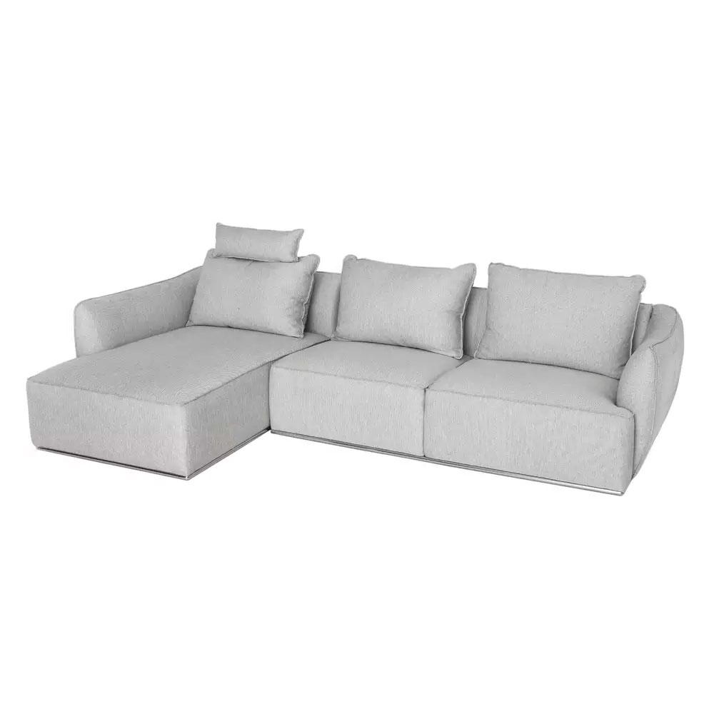 Sofa 3 Plazas Medidas Y7du sofas Sillones sofà Chaise Longue De 3 Plazas En Blanco Gris