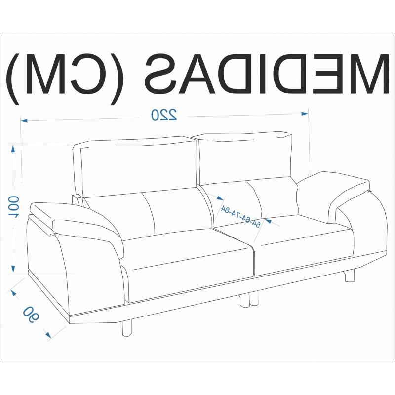 Sofa 3 Plazas Medidas Zwdg sofà 2 3 Plazas Zoco â Barato Con Excelencia Telas Sala Estar